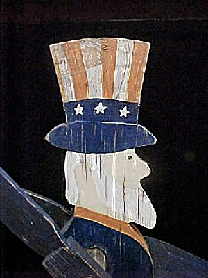 Uncle Sam Vintage  Wooden Whirly Gig Folk Art (Image1)
