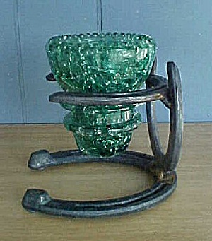 Vintage Horseshoe Art Candle Holder