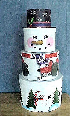 Snowman Cardboard Boxes (Image1)