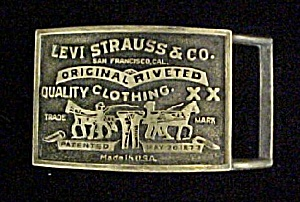 Vintage Levi Strauss And Co. Belt Buckle