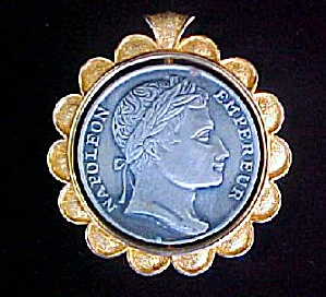 Napoleon Medal Style Pendant - Signed (Image1)
