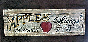 Apples Homegrown Wood Advertising Sign (Image1)