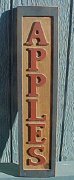 Wooden Sign Advertising Apples (Image1)