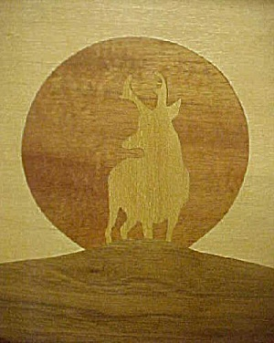 Western Elk Art - Inlaid Wood Framed (Image1)