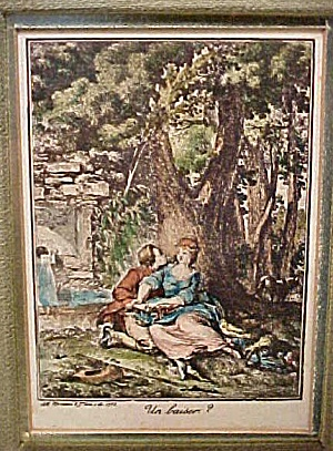 A kiss? Decorator Print w/Beautiful Frame (Image1)