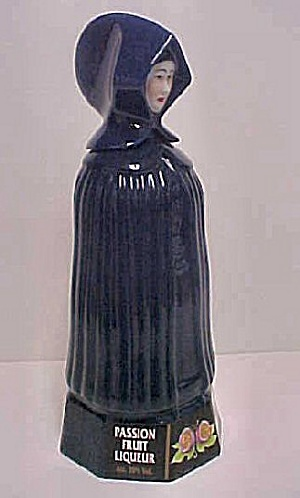 Figural Woman W/cloak Liqueur Decanter