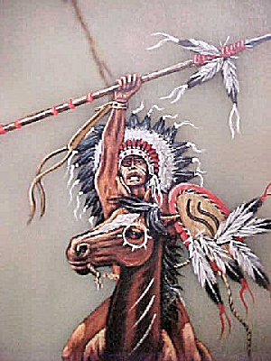 Native American Warrior on/Quartz Slab (Image1)