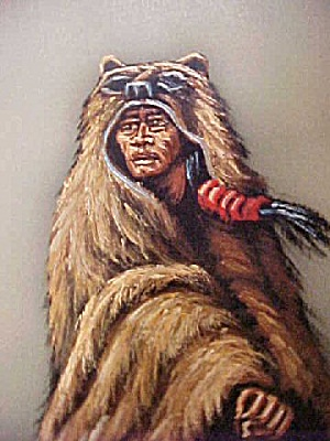 Native American Warrior in Bear Skin  (Image1)