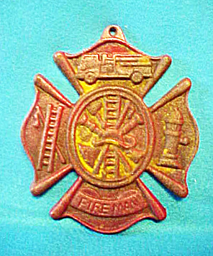 Fireman Fire Fighter Cast Iron Sign (Image1)