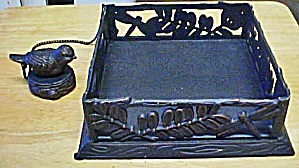 Metal Napkin Holder w/Bird (Image1)