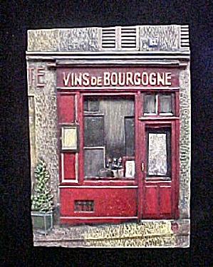 Vins de Bourgogne Chalk Ware Plaque (Image1)