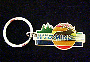 Wyoming Key Chain Featuring Elk
