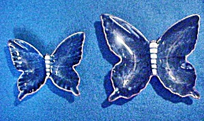 Pair Porcelain Butterfly Candy Plates (Image1)