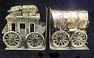 Metal Stagecoach/Covered Wagon Bookends (Image1)