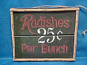 Radishes Country Wooden Sale Sign (Image1)
