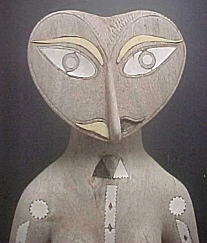 Solomon Islands Carved Pregnant Figure (Image1)