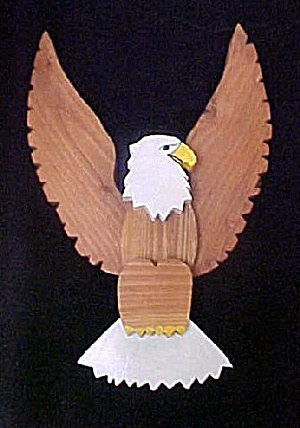 Handmade Wooden Eagle - Made in Montana (Image1)