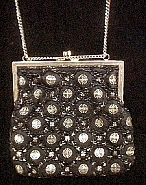 Striking Black and Gold Evening Purse (Image1)