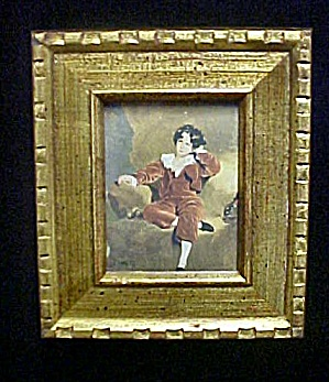 Period Print Mauve Boy - Framed/Under Glass (Image1)