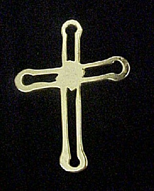 Gold-toned Stylized Hollow Cross