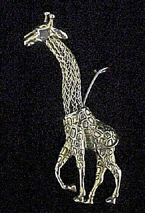 Metal Giraffe Ornament