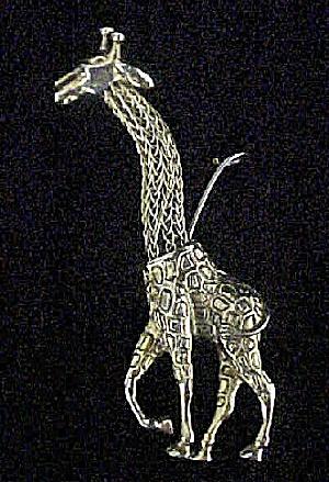 Metal Giraffe Ornament (Image1)