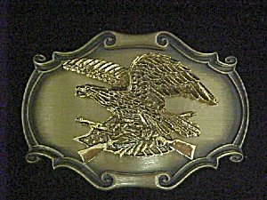 Vintage Metal Eagle Belt-buckle - Signed