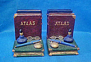 Atlas Antique Style Bookends (Image1)