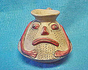 pre-Columbian Style  Figural Pot - 1970's (Image1)