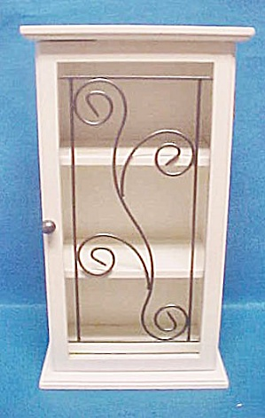 Small White Display Cabinet - 20th Century (Image1)
