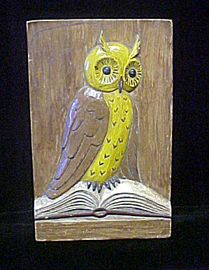 Owl Plaque - High Relief - 20th Century (Image1)