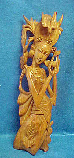 Sita Wooden Sculpture - 20th Century (Image1)
