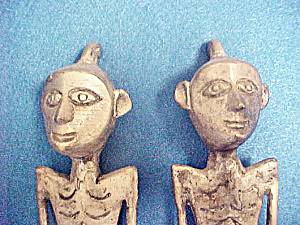 Nias Indonesian Male Female Effigies