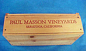 Paul Masson Vineyards Wood Wine Box (Image1)