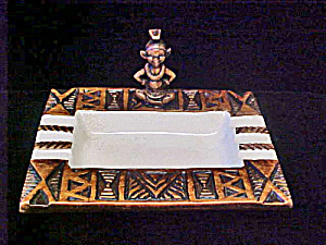 Treasure Craft Tiki Motif Ashtray