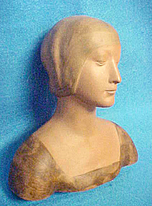 Effigy Bust - Medieval Woman - 20th Century