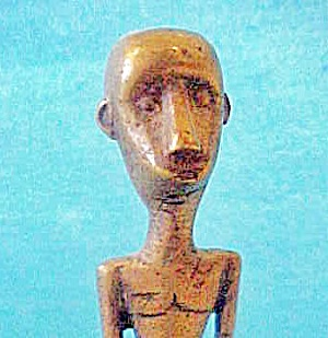 Metal Male Tribal Figure - Indonesian (Image1)