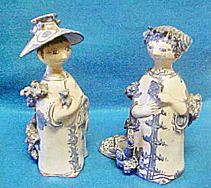 Pair of Bjorn Wiinblad Figures - Signed/Dated (Image1)