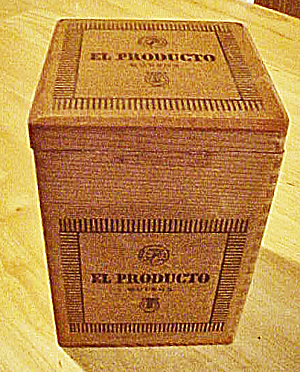 El Producto Queen Wood Hinged Cigar Box