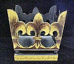 Fleur De Lis  Designed Open Tin Container (Image1)