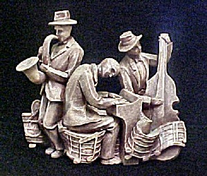 Jazz Music Band Group Sculpture (Image1)