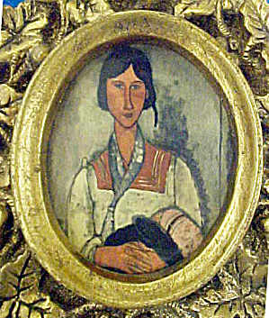 Modigliana Gypsy Woman with Baby Print (Image1)