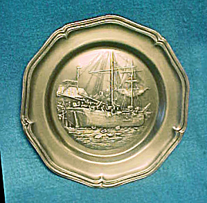 American Centennial Boston Tea Party Plate (Image1)