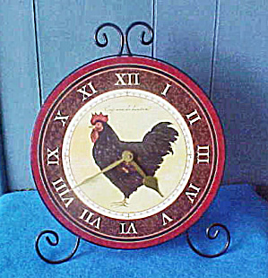 Large Rooster Counter/Wall Clock (Image1)