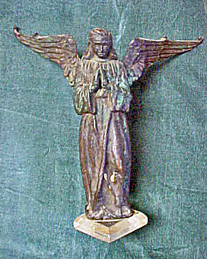 Italian Architectural Metal Angel  (Image1)