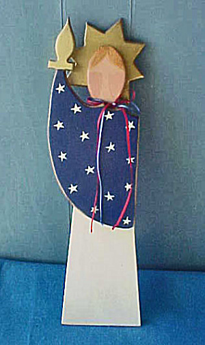 Statue of Liberty - Wood Folk Art (Image1)