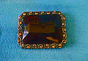 Faceted Large Stone Belt Buckle - 20th c (Image1)