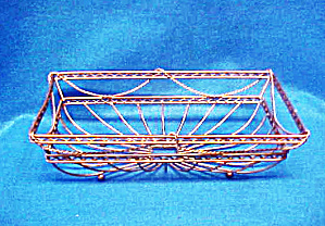 Wire Rectangular Bowl - Unique