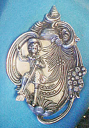 Metal Plaque w/17th Century Style Figure (Image1)