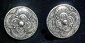 Vintage Monet Button Style Earrings (Image1)